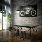 Vintage Motorcycle Rustic 3D Metal Wall Art