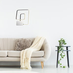 LED Square Sconce // Double