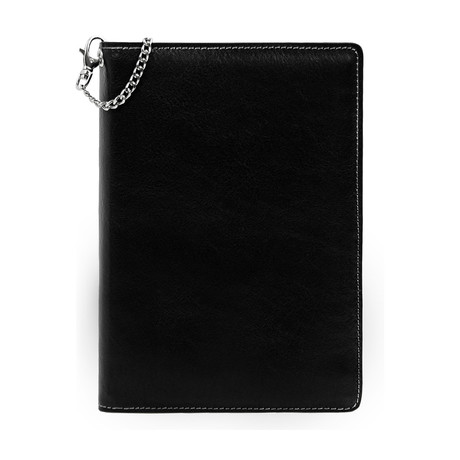 The Diary Of A Nobody // Leather Journal + Refillable Notepad // Black