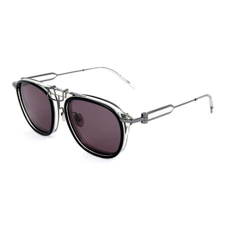 Men's CKNYC1883S Sunglasses // Black + Crystal Smoke