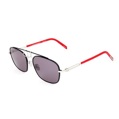 Men's CKNYC1810S Sunglasses // Black + Silver + Red