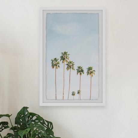 "Green Palm Trees // Framed Painting Print (8""W x 12""H x 1.5""D)"