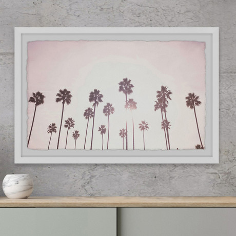 """The Palm Trees // Framed Painting Print (12""""W x 8""""H x 1.5""""D)"""