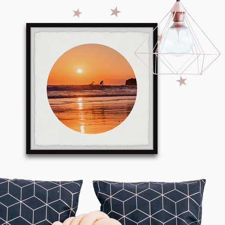 "Sunset Adventure // Framed Painting Print (12""W x 12""H x 1.5""D)"