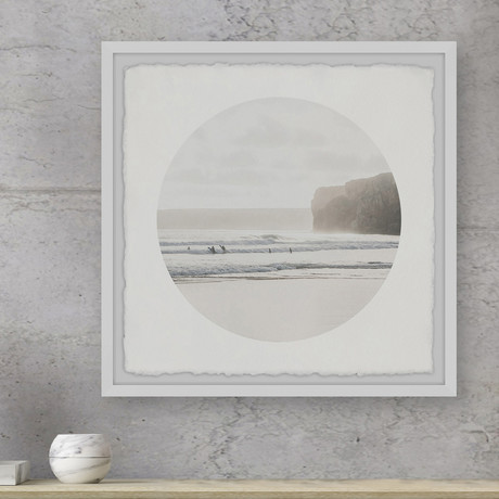 """Surfing Adventure // Framed Painting Print (12""""W x 12""""H x 1.5""""D)"""