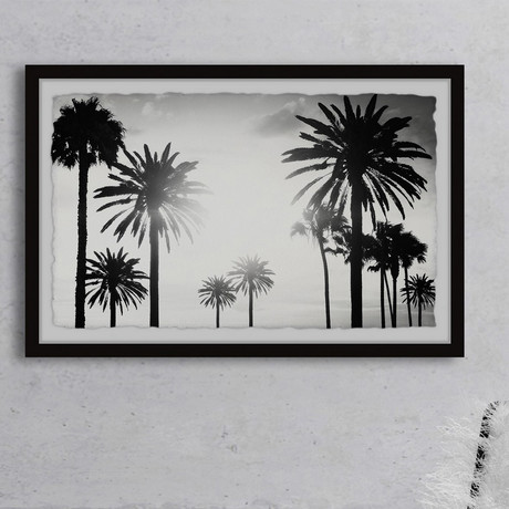 """Group of Palm Trees // Framed Painting Print (12""""W x 8""""H x 1.5""""D)"""