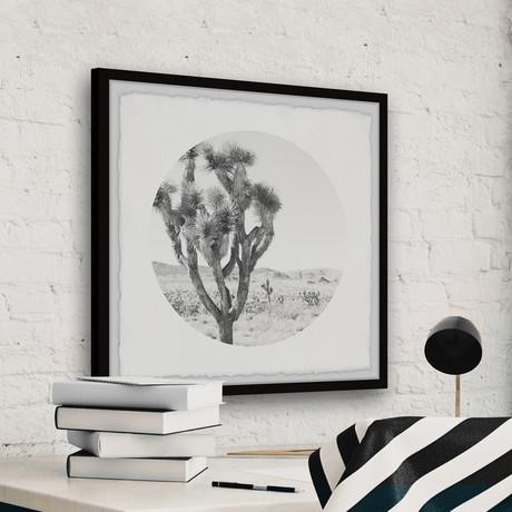 """Desert Cacti // Framed Painting Print (12""""W x 12""""H x 1.5""""D)"""