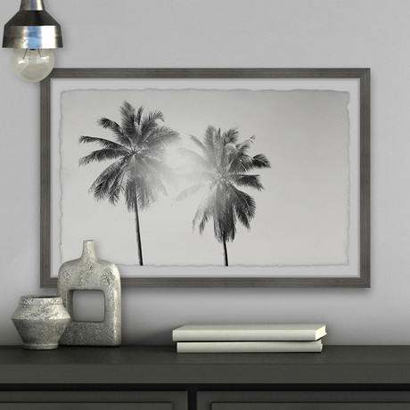 """Light From the Palm // Framed Painting Print (12""""W x 8""""H x 1.5""""D)"""