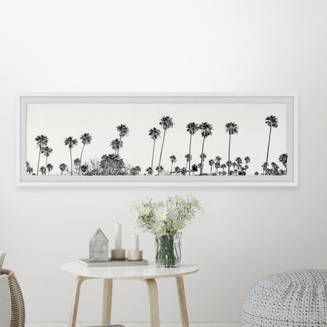 """Palm Trees Collection // Framed Painting Print (30""""W x 10""""H x 1.5""""D)"""