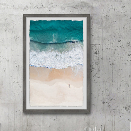 """Waves and Shorelines // Framed Painting Print (8""""W x 12""""H x 1.5""""D)"""