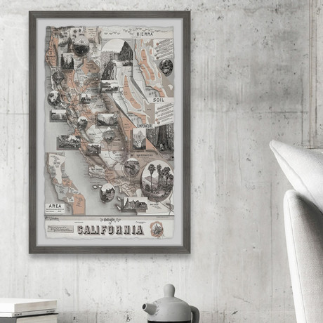 """When in Cali // Framed Painting Print (8""""W x 12""""H x 1.5""""D)"""