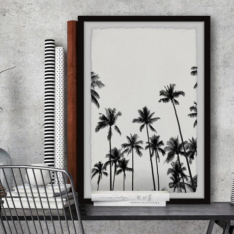 """Bunch of Palms // Framed Painting Print (8""""W x 12""""H x 1.5""""D)"""