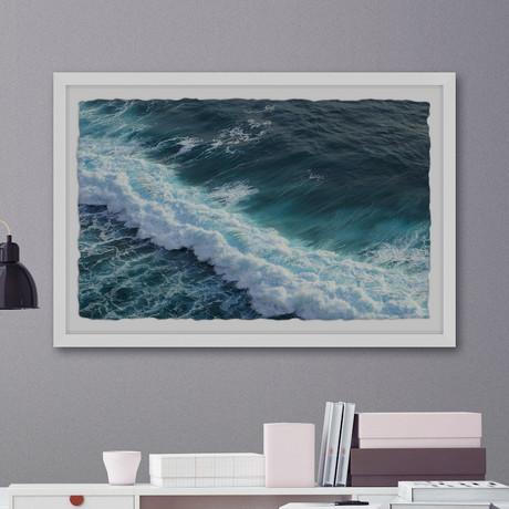 """Sea Swells // Framed Painting Print (12""""W x 8""""H x 1.5""""D)"""