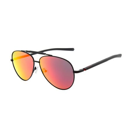 Men's DA7001 Sunglasses // Black + Red