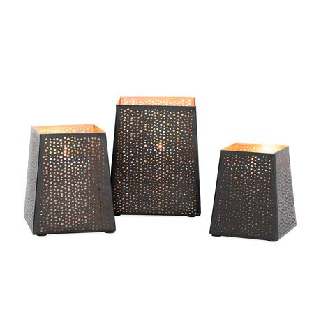 Tojo Box Screen // 3-Piece Candle Holder Set