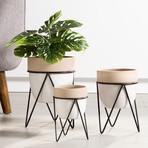 "Sedona // Ceramic Planter + Stand (9.5""H)"