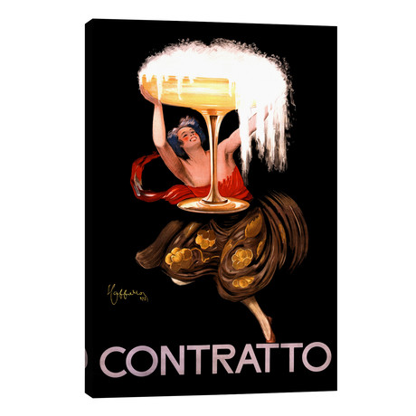 Contratto Champagne Vintage Advertisement // Leonetto Cappiello