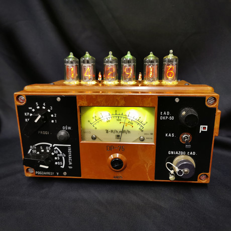 Six Tube Geiger Counter Clock