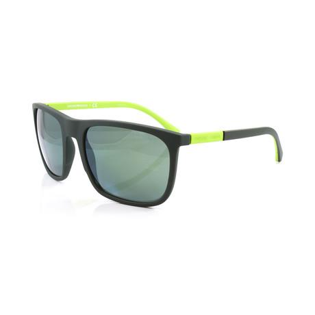 Emporio Armani // Men's EA4133 Sunglasses // Green Rubber