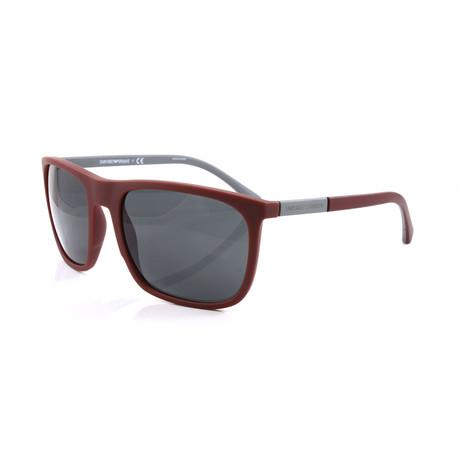Emporio Armani // Men's EA4133 Sunglasses // Bordeaux Rubber