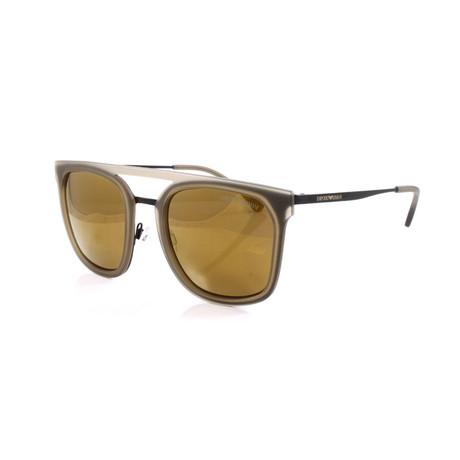 Emporio Armani // Men's EA2062 Sunglasses // Matte Black + Bronze