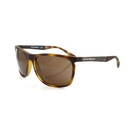 Emporio Armani // Men's EA4107 Sunglasses // Matte Havana