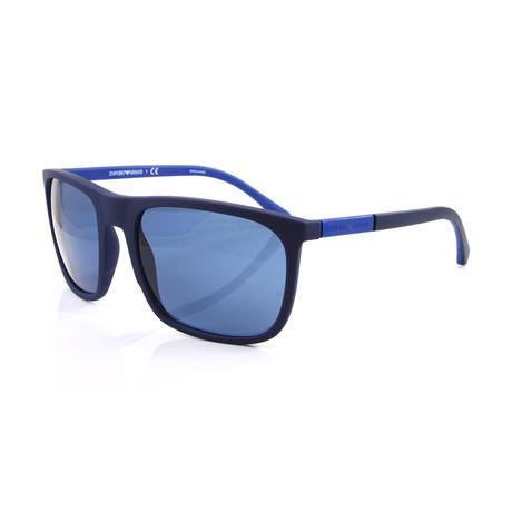 Emporio Armani // Men's EA4133 Sunglasses // Blue Rubber