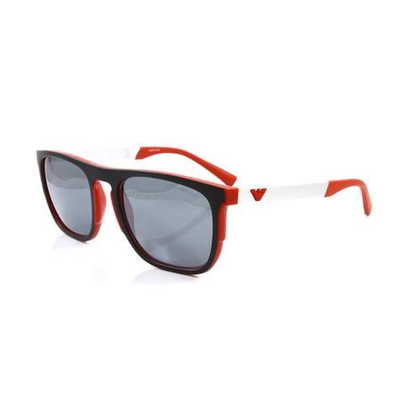 Emporio Armani // Men's EA4114 Sunglasses // Matte Black + Matte Red