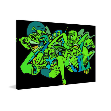 """Company Painting Print on Wrapped Canvas (12""""W x 8""""H x 1.5""""D)"""