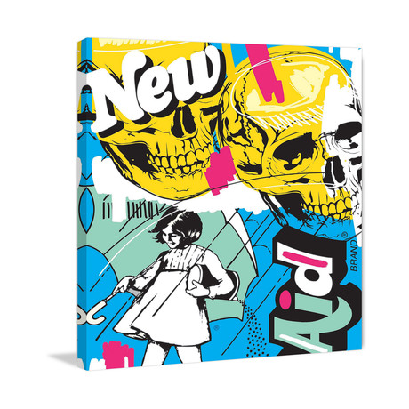 """New Aid Painting Print on Wrapped Canvas (12""""W x 12""""H x 1.5""""D)"""