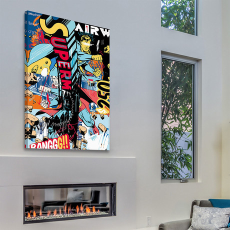"""Super Print on Wrapped Canvas (12""""H x 8""""W x 1.5""""D)"""