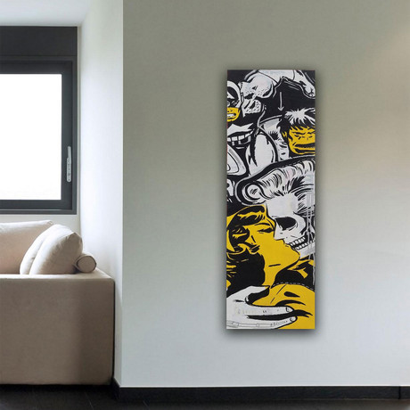 """Kiss of Death Print on Wrapped Canvas (15""""H x 5""""W x 1.5""""D)"""
