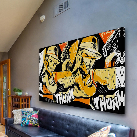 """Thunk Print on Wrapped Canvas (8""""H x 12""""W x 1.5""""D)"""