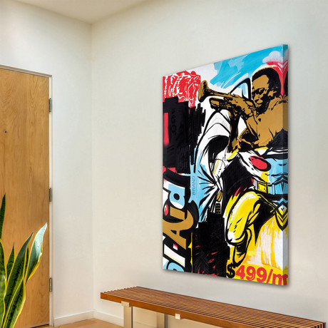 """Miles as a Superhero Print on Wrapped Canvas (12""""H x 8""""W x 1.5""""D)"""