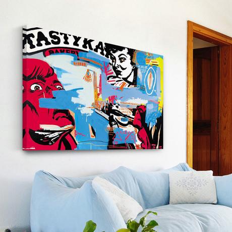 "Street State Saint Print on Wrapped Canvas (8""H x 12""W x 1.5""D)"