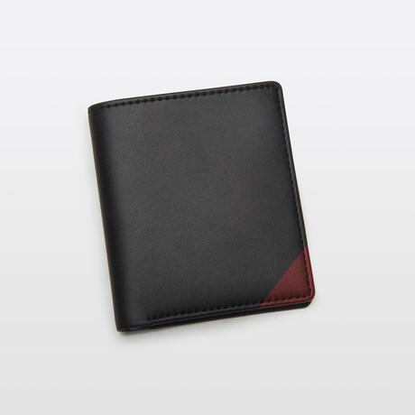 Slim Wallet // Black + Red