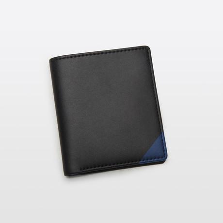 Slim Wallet // Black + Blue