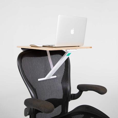 StorkStand Standing + Lap Desk // White