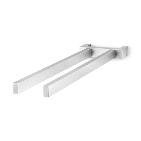 Linea // Double Arm Towel Holder (Brushed Finish)