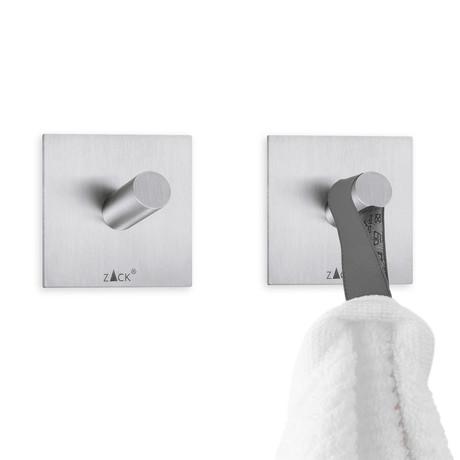 Duplo // Self Adhesive Towel Hook // Square // Set of 2