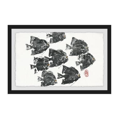 "Racing Fish (8""H x 12""W x 1.5""D)"