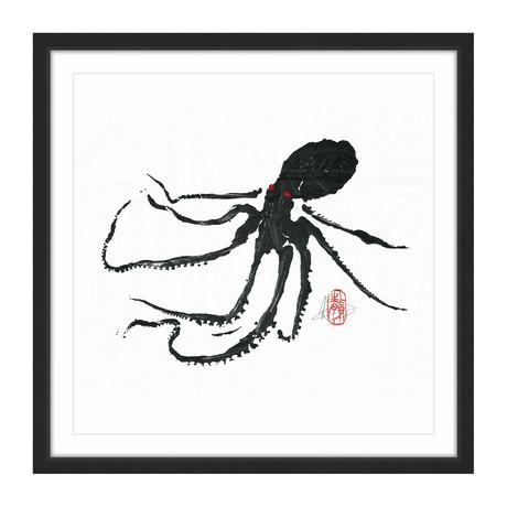 "Ursula - Black Octopus (12""H x 12""W x 1.5""D)"