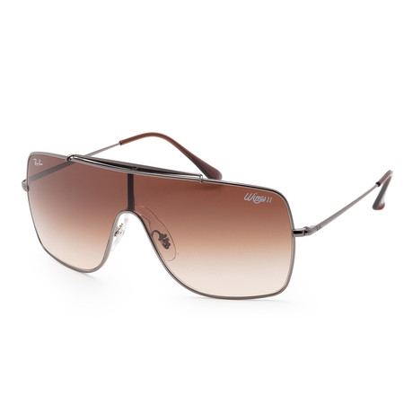 Ray-Ban // Men's RB3697-004-1335 Polarized Sunglasses // Gunmetal + Brown Gradient