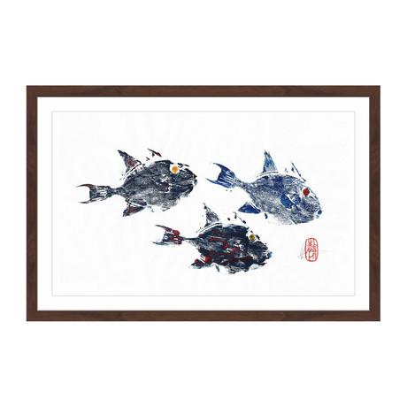 """Small Trigger Fish (12""""H x 18""""W x 1.5""""D)"""