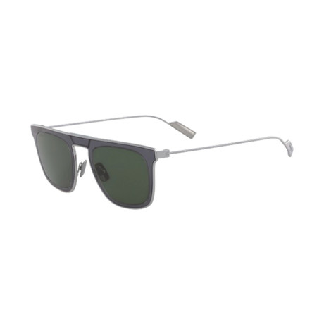 Salvatore Ferragamo // Men's SF187S-339 Sunglasses // Green + Gray