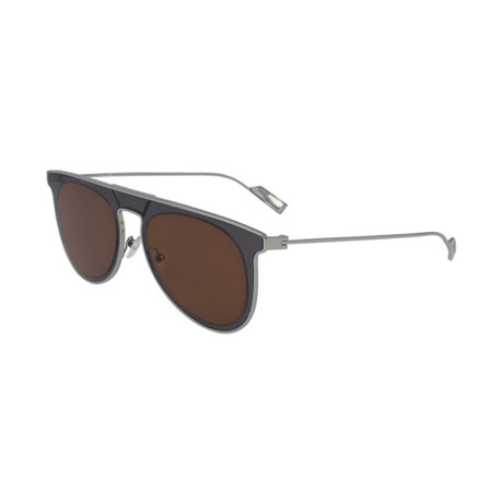 Salvatore Ferragamo // Men's SF209S-060 Sunglasses // Gray + Brown