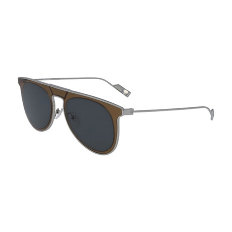 Salvatore Ferragamo // Men's SF209S-329 Sunglasses // Olive Green + Blue