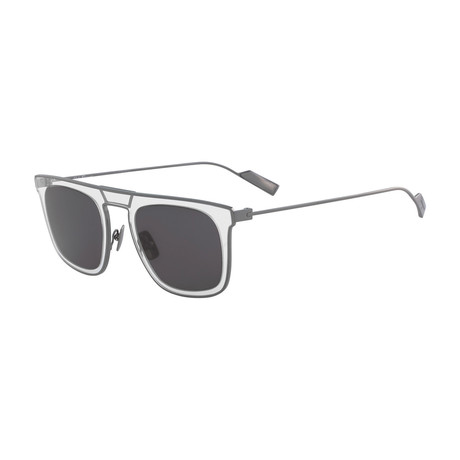 Salvatore Ferragamo // Men's SF187S-049 Sunglasses // Gray Crystal + Gray