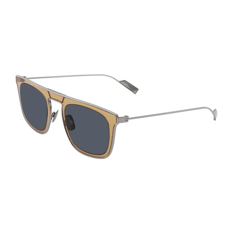 Salvatore Ferragamo // Men's SF187S-434 Sunglasses // Blue + Orange