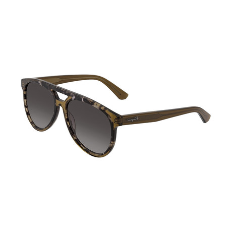 Salvatore Ferragamo // Men's SF945S-055 Sunglasses // Gray Havana + Brown